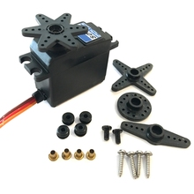 купить 15Kg High Torque Coreless Motor Servo S0150D Metal Gear For Rc Robot Car дешево