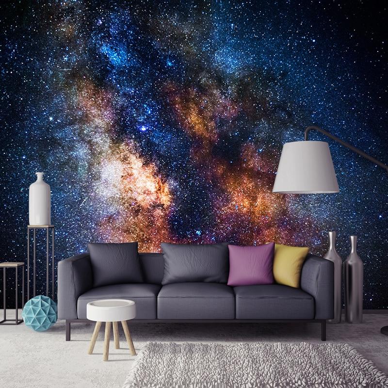 Custom Photo Mural Wallpaper Starry Sky Nature Landscape Living Room Sofa Bedroom Background Wall Decor Painting Wall Art Modern
