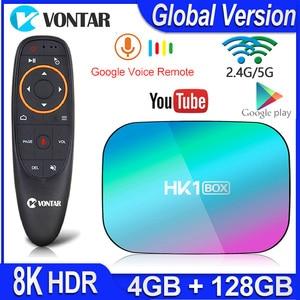 Image 1 - HK1 박스 8K 최대 4 기가 바이트 128 기가 바이트 TV 박스 Amlogic S905X3 안드로이드 9.0 스마트 TV 박스 4K 1000M 듀얼 와이파이 구글 플레이 스토어 유튜브 셋톱 박스