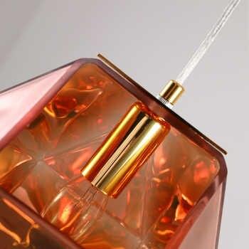 Nordic modern simple creative glass restaurant 15cm chandelier bar bedroom bedside front desk Art E14 86-260V