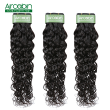 Brazilian Water Wave Bundles Human Hair Weave Natural Extensions Aircabin Remy 1/3/4 Pieces