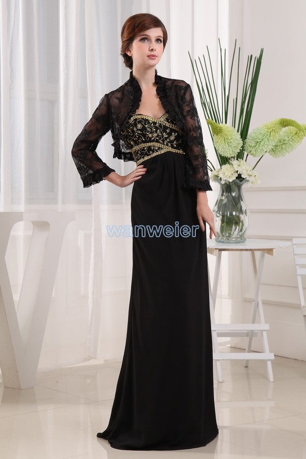 Free Shipping 2016 Plus Size Floor Length Formal Brides Maid Dress Maxi Dress Long Mother Of The Bride Dresses And Lace Jacket