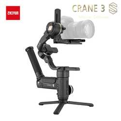 ZHIYUN Crane 3S/3S-E 3-Axis Handheld Gimbal Stabilizer for DSLR and Mirrorless Cameras, 6.5kg Payload, Extendable Roll Axis