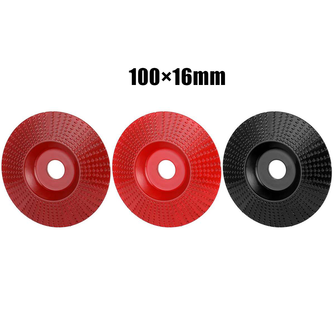 3PCS Flat / Arc / Bevel Grinding Wheel Angle Grinder Disc Wood Carving Tool Grinding Wheel Saw Circular Cutting Disc Dremel Rot