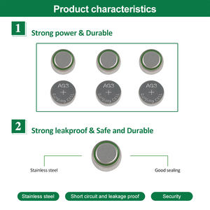 Image 4 - PHOMAX 50pcs AG3 SR41 192 button battery 392A L736 LR41 392 384 alkaline battery watch counter electronic instrument battery