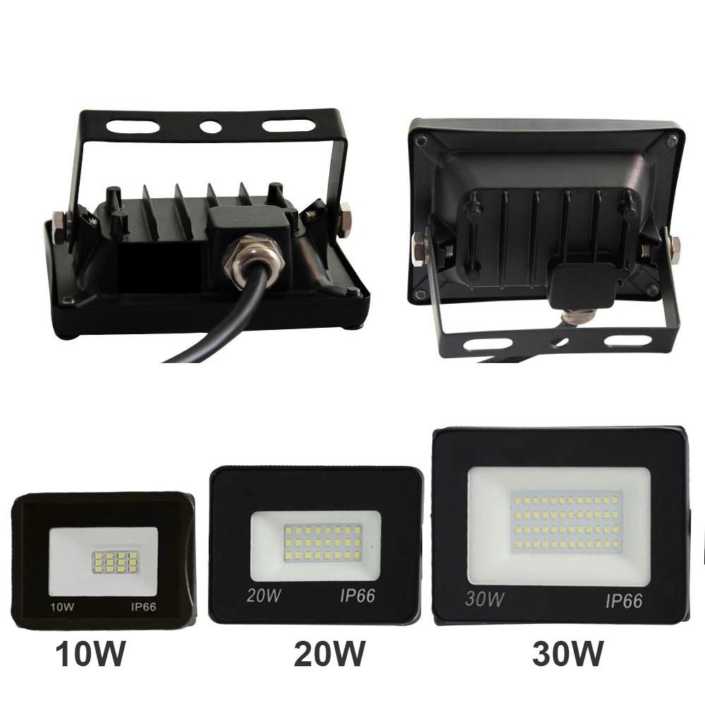 Ультра-тонкий светодиодный светильник 10 Вт 20 Вт 30 Вт 50 Вт 100 Вт 150 Вт 200 Вт, прожектор 220 В, отражатель заливающего пятна, наружный IP65 водонепрон...