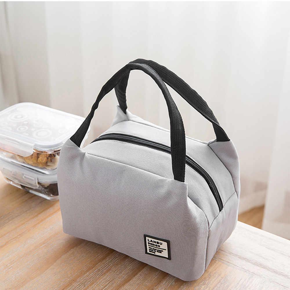 Taşınabilir öğle yemeği çantası 2019 yeni termal yalıtımlı yemek kabı Tote soğutucu çanta Bento kılıfı yemek kutusu okul gıda saklama torbaları