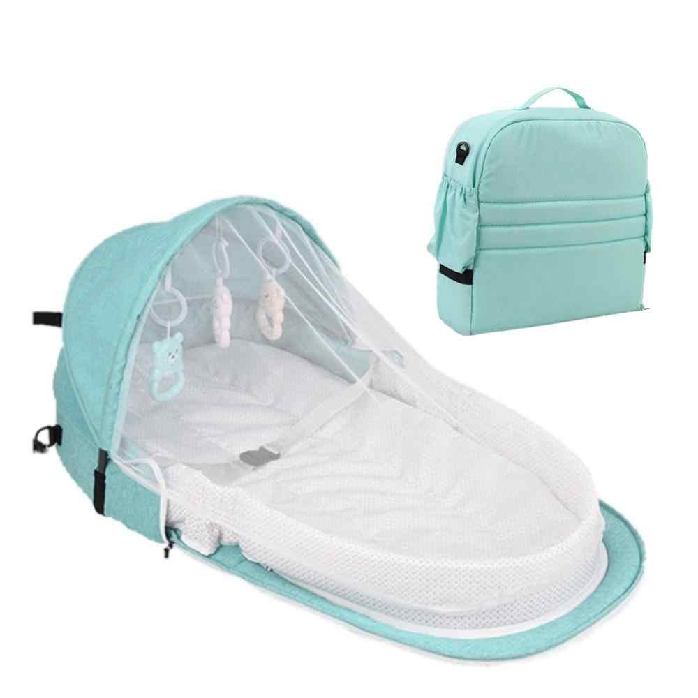 Baby Reizen Draagbare Mobiele Wieg Baby Nest Cot Pasgeboren Multifunctionele Vouwen Bed Kind Opvouwbare Stoel Met Speelgoed Mosquito netto