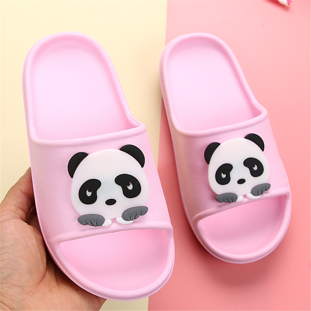 Kids Slippers Girls Children Shoes Boys Panda Cartoon Flip Flop Garden Home Footwear Beach Mother-Child EVA Barthroom