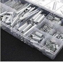 Jeu de ressorts en métal et acier, 200 pièces/lot, assortis avec boîte de rangement, accessoires, Extension et bobine de Compression, outil matériel Portable