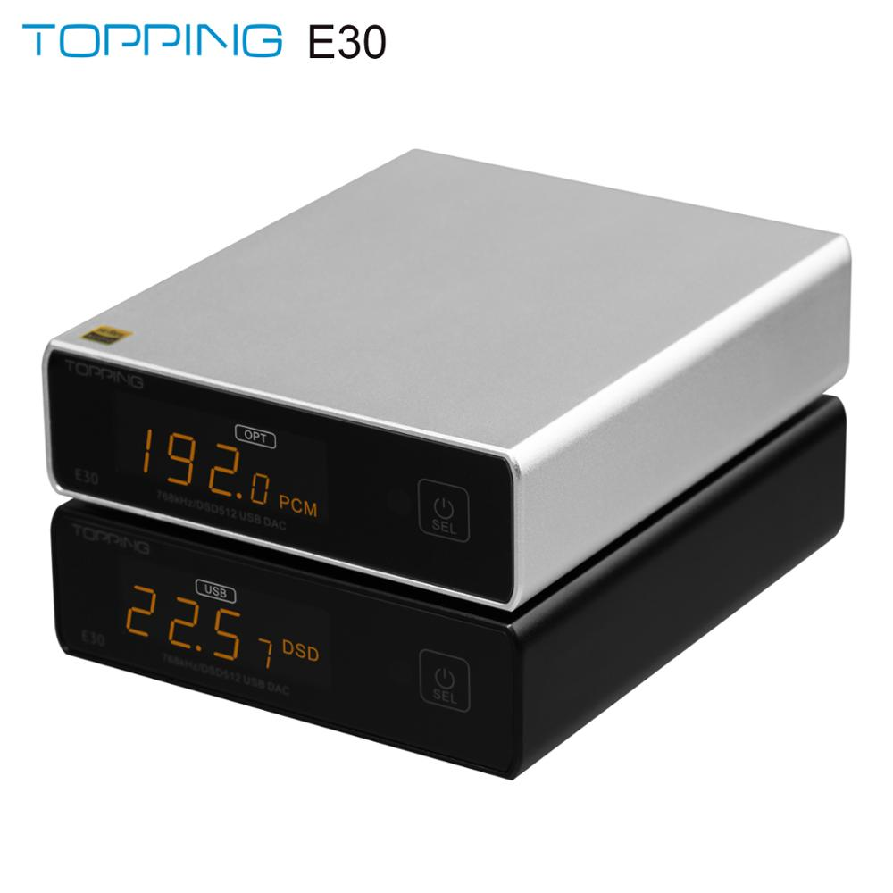 TOPPING E30 MINI HIFI USB DAC AK4493 decoder XMOS XU208 32BIT   768Khz DSD512