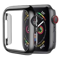 HOCO do Apple Watch Case seria 4 plastikowy bumper Slim fit Case do IWatch 5 kolorowy poszycie cienka ochraniacz rama z tworzywa 40mm 44mm