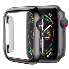 цена на HOCO for Apple Watch Case Series 4 PC Bumper Slim fit Case for IWatch 5 Colorful Plating Thin Protector Plastic Frame 40mm 44mm