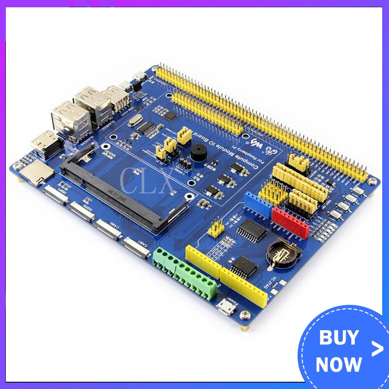 Compute Module IO Board Plus,Composite Breakout Board For Developing With Raspberry Pi CM3, CM3L Various Component
