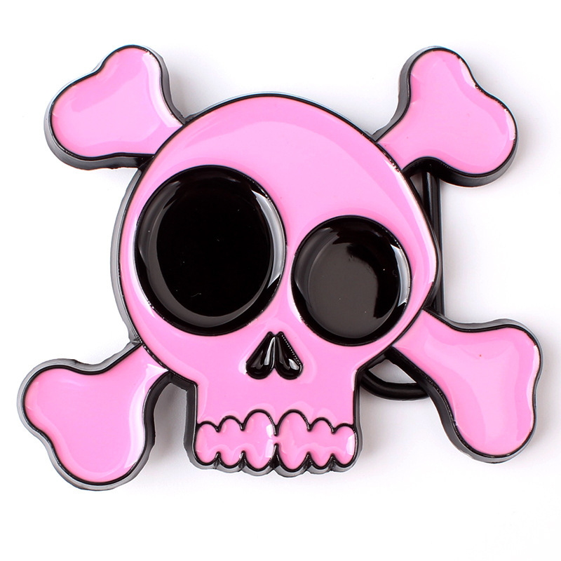 Cute Skull Skeleton Belt Buckle Belt DIY Accessories Western Cowboy Style Smooth Belt Buckle Punk Rock Style K39