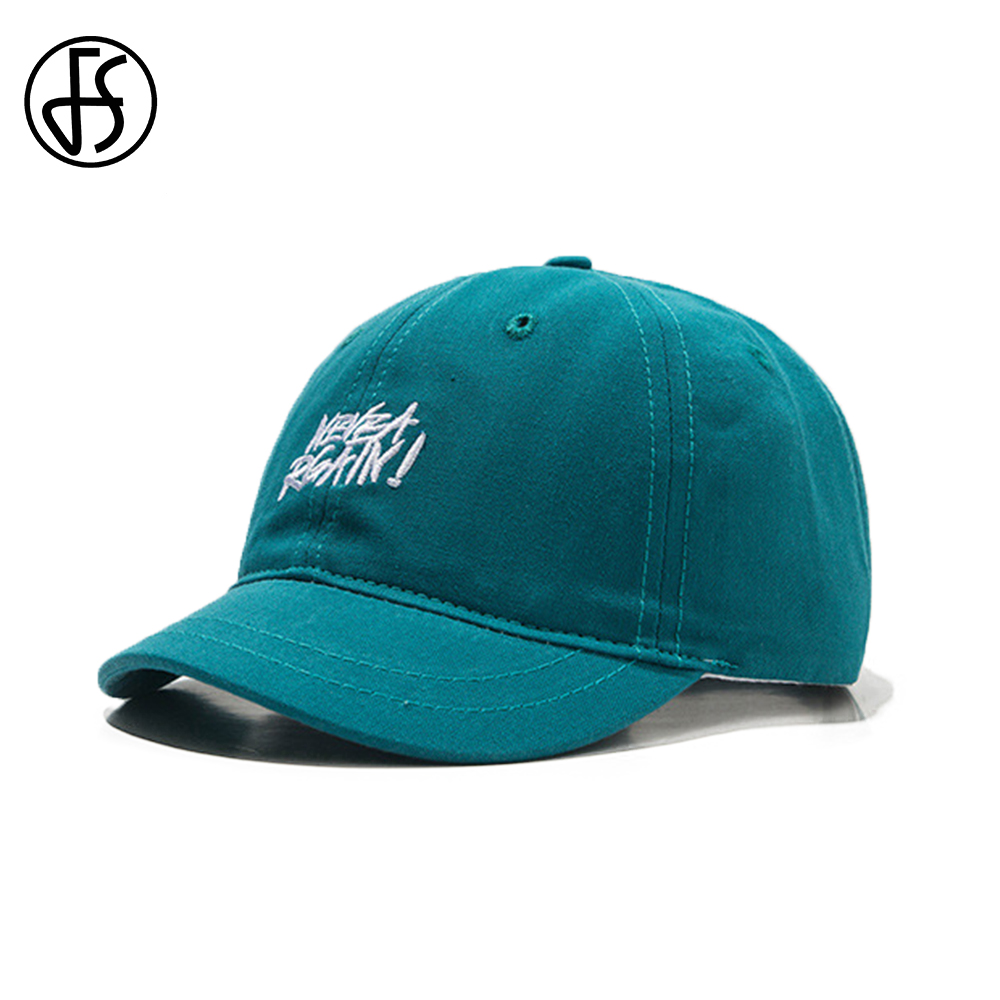 FS Trend Candy Color Short Brim Baseball Caps For Women Men Simple Streetwear Face Cap With Visor Letter Blue Purple Dad Hats