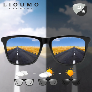 Marka projekt fotochromowe okulary mężczyźni kobiety polaryzacyjne okulary przeciwsłoneczne dzień Night Vision okulary jazdy gogle aluminiowe nogi