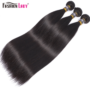 Image 2 - Fashion Lady Pre colored Peruvian Straight Bundles Hair Extensions Human Hair Bundles 1 Piece Per Pack Non Remy