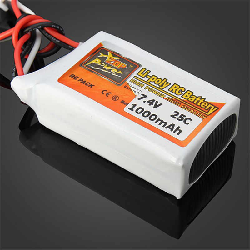 2018 Rechargeable ZOP puissance 7.4V 1000mAh 2S 25C Lipo batterie JST prise connecteur pour RC Drone FPV quadrirotor bricolage jouets pièces de rechange