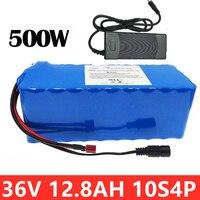 Bateria profunda do ciclo da bicicleta elétrica da bateria 12.8ah 10s4p de 36v para o motor de 500 w ebike com 15a bms + 18650 carregador de bateria