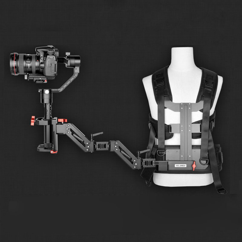 Yelangu Gimbal Supporting System Spring Shock Absorber Arm And Vest Steadicam For DJI Ronin S Zhiyun Crane 2 Moza Air 2