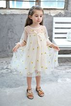 Vgiee Teen Dress Girl Costume Cotton Mesh Pineapple Summer Dress Girl Kids Dresses kids pineapple print tie dress