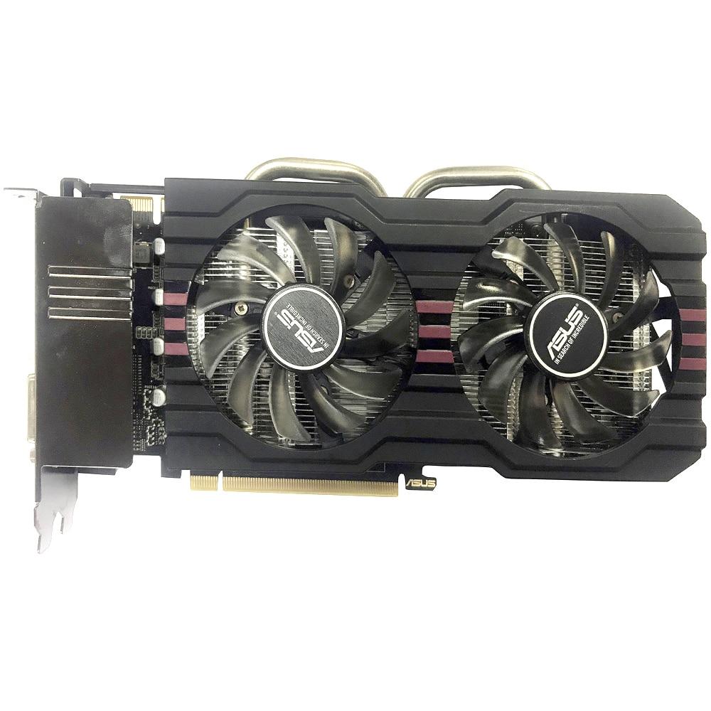 Видеокарта ASUS GTX 760, 2 ГБ 256 бит GDDR5 для nVIDIA, VGA карты, Geforce GTX760 мощнее, чем GTX 750 TI, бывшая в употреблении-3