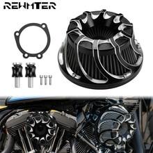 Мотоцикл воздушного фильтра, изготовленное на станках с ЧПУ очиститель Впускной фильтр для Harley Softail Dyna Sportster 883 1200 Touring Road King Fatboy FLHX FLTRX