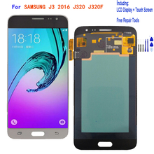 Display For SAMSUNG J3 2016 J320 J320F LCD Display Touch Screen Digitizer Assembly Phone Parts Repair AMOLED LCD