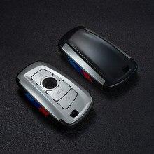 PC авто ключ Оболочка Чехол держатель с пряжкой брелок для BMW F07 F10 F11 F20 F25 F26 F30