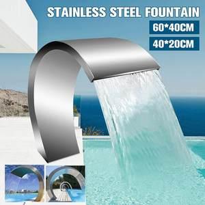 Fuente de agua para piscina de acero inoxidable de 60x3 0cm/40x20cm, caseta para piscina de jardín, accesorios decorativos, grifo