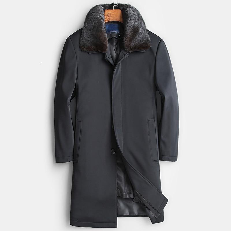 Real Fur Coat Men Rex Rabbit Fur Coat Real Mink Fur Collar Winter Coat Real Fur Parka Mens Clothing 2020 Casaco 18729 YY1144