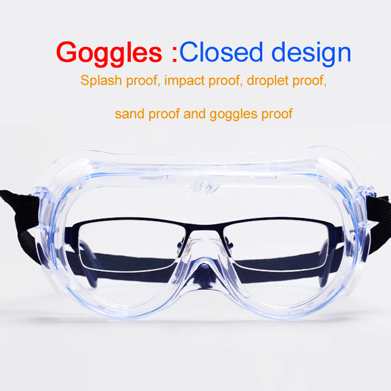 Transparent Protective Glasses Safety Goggles Anti-Splash Wind-Proof Work Safety Glasses For Research Cycling Riding