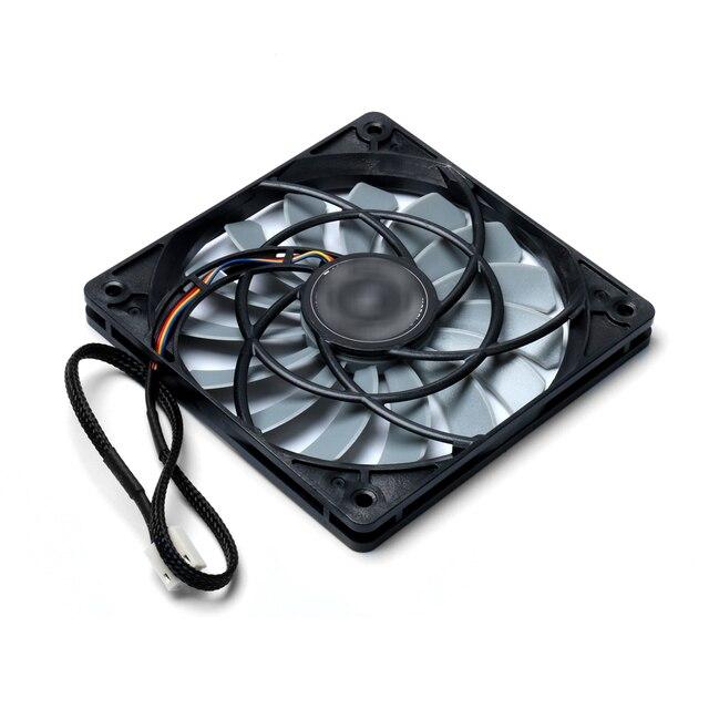 PWM température contrôle ventilateur remplacement Ultra mince ventilateur SY1212SL12H-P 4 broches 12*12*1.2cm ventilateur de refroidissement pour faux
