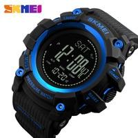 Skmei 남자 스포츠 시계 s 충격 군사 나침반 보수계 칼로리 남자 시계 디지털 방수 전자 손목 시계 남성|디지털 시계|시계 -