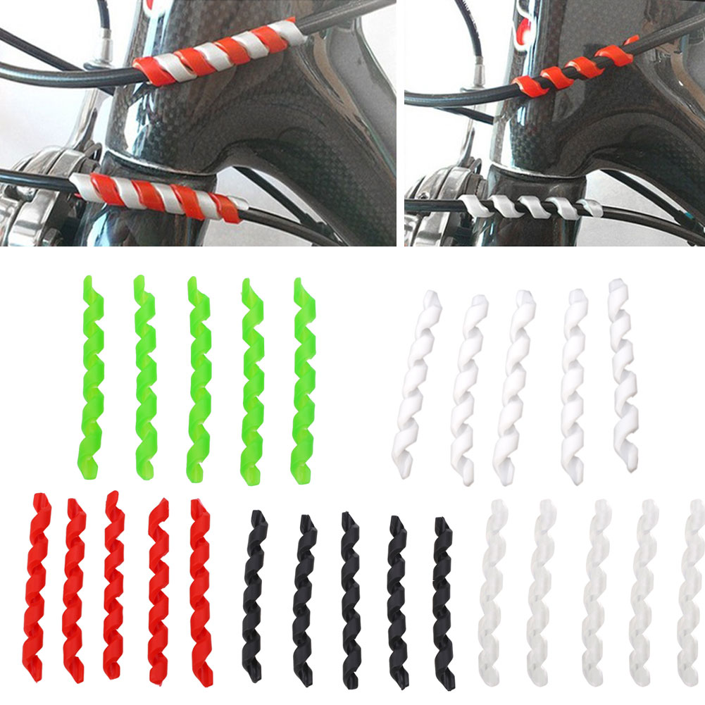 10pcs Bike Brake Cable Housing Protection Bike Frame Protection Brake Line Shift Cable Plastic Sleeve Bicycle Accessories