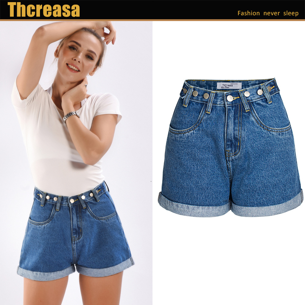 New Summer Women Jeans High-waisted Loose Casual Denim Female Wide-legged Shorts Jeans