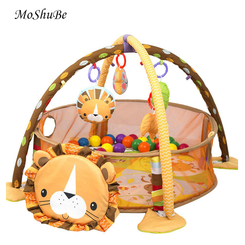 Multifunctional Baby Game Gym Play Mat Climbing Mat Fitness Rack Infant Educational Toys Rug Blanket Ball Pit Activity Pool