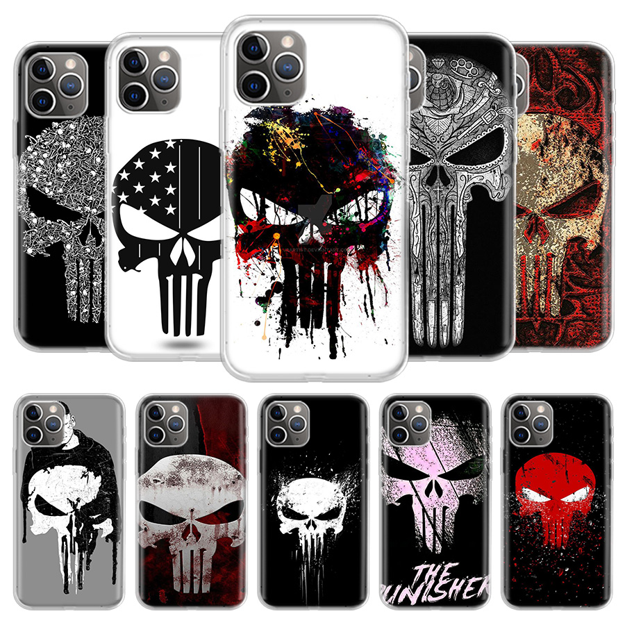 The Punisher Phone Case For iPhone 11 Pro 7 6 X 8 6S Plus XS MAX