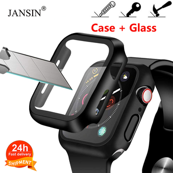 Case+Tempered Glass For Apple Watch 40/44mm Series 6 SE 5 4 Screen Protector coverage Bumper case for iwatch 3 2 38/42mm - discount item  76% OFF Watches Accessories