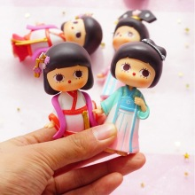 6 Styles Blind-Box Mystery Unknown Random Doll Action Cute Girl Child Toy Mobile Phone Case Decoration New Home Decoration