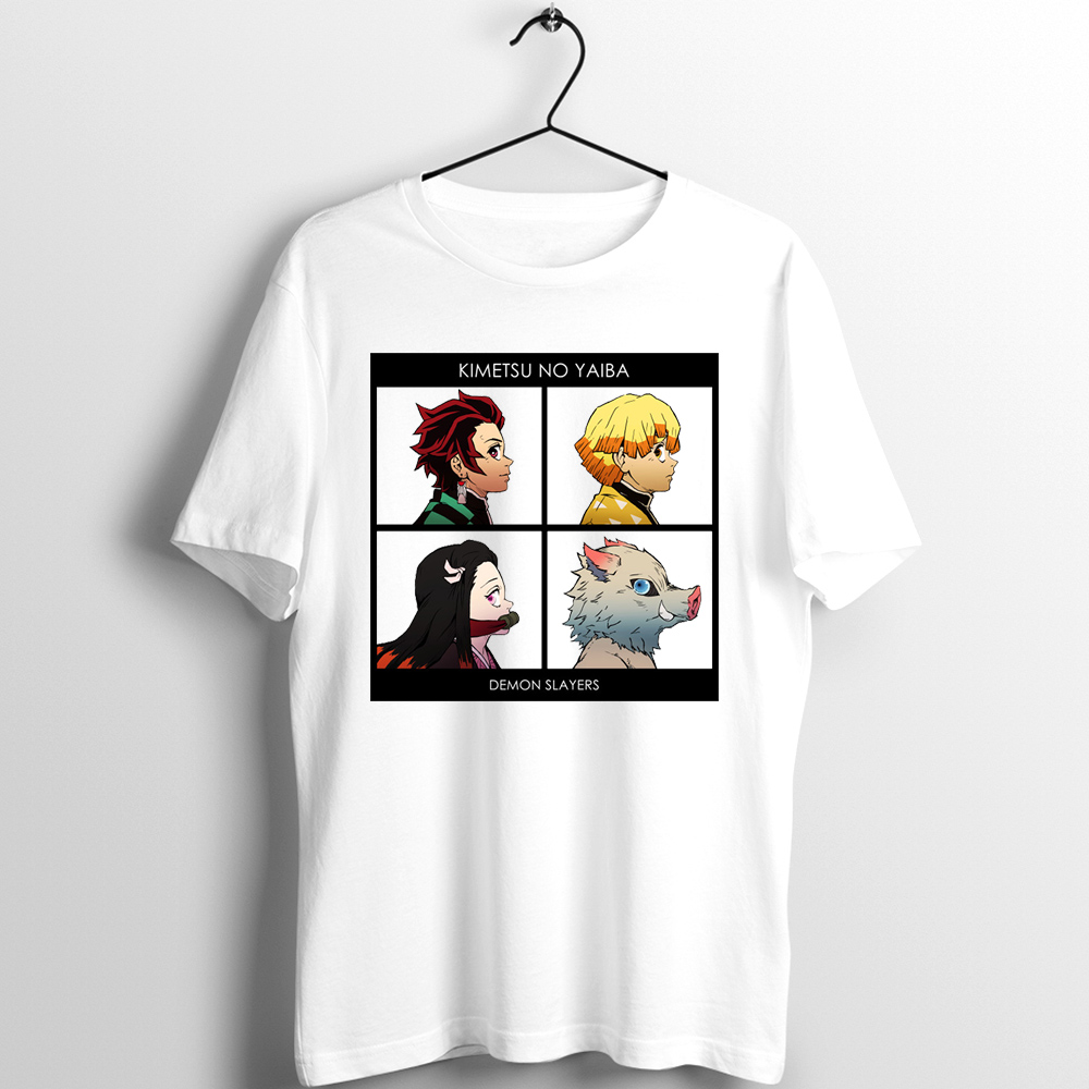Unix T Shirt Men Women Demon Slayer Kimetsu No Yaiba Blade Of Demon Destruction Nezuko Tanjiro Inosuke Printed Tee