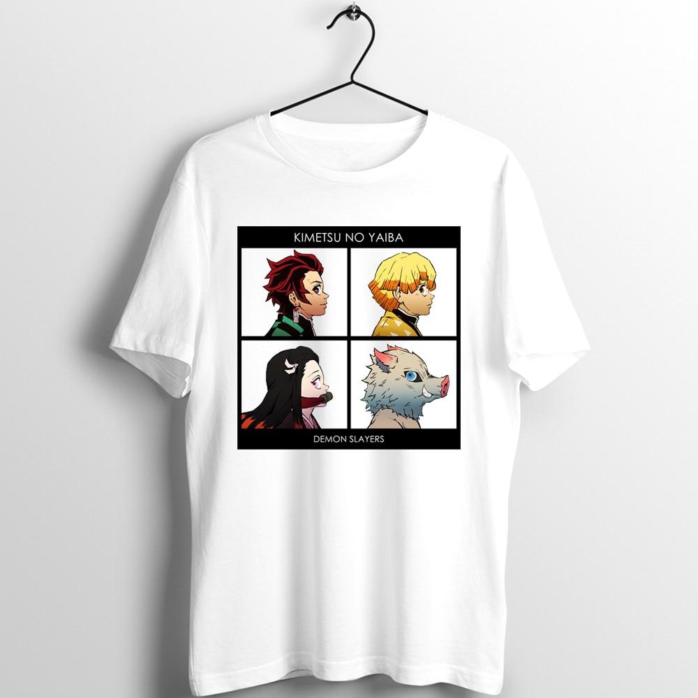 Unix T Shirt Men Women Demon Slayer Kimetsu No Yaiba Blade Of Demon Destruction Nezuko Tanjiro Inosuke Printed Tee