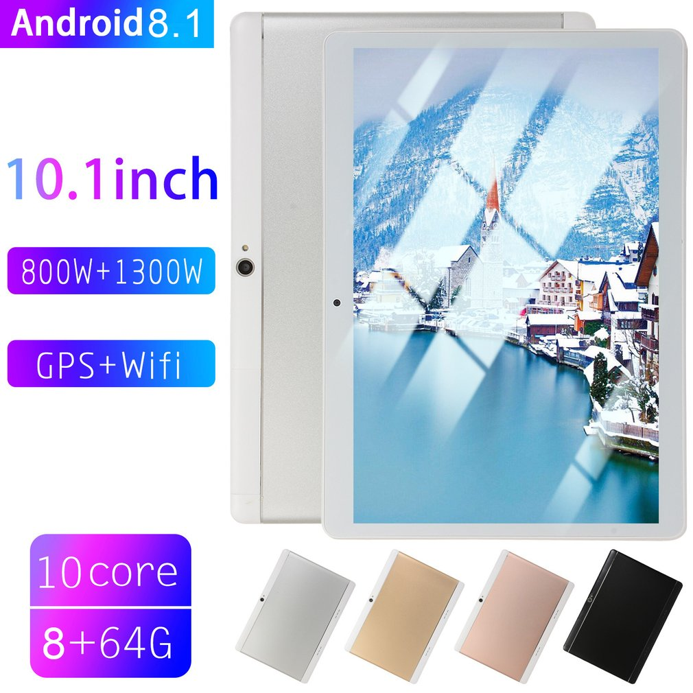 Hot Sale 2019 New 10.1 Inch tablet PC Large Screen tablet android 8.10 8GB RAM 64GB ROM WiFi GPS 10.1 IPS 2560*1600+Gifts