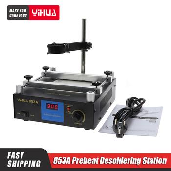 YIHUA 853A stacja lutownicza ESD stacja lutownicza BGA cyfrowa stacja lutownicza IR rozlutownica PCB 110V 220V ue tanie i dobre opinie DSUNYK CN (pochodzenie)