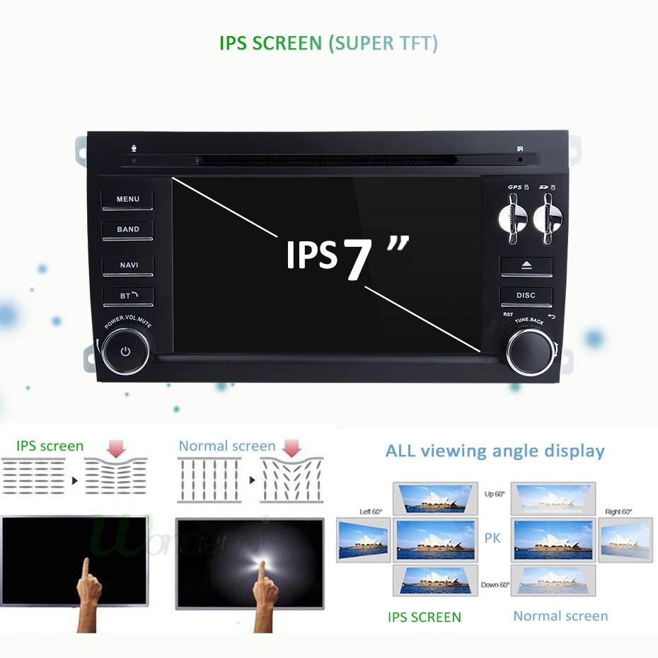 Image 2 - IPS DSP 4G 64G 8 Core 2 דין אנדרואיד 10 מולטימדיה לרכב נגן dvd GPS ניווט עבור פורשה קאיין S GTS 2003 2010 רכב רדיו FMdin android2 din androidcar dvd player -