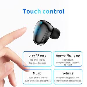 Image 3 - Auriculares TWS inalámbricos por Bluetooth 5,0, auriculares Hifi con pantalla de potencia de 1500 mAh y Control táctil de graves