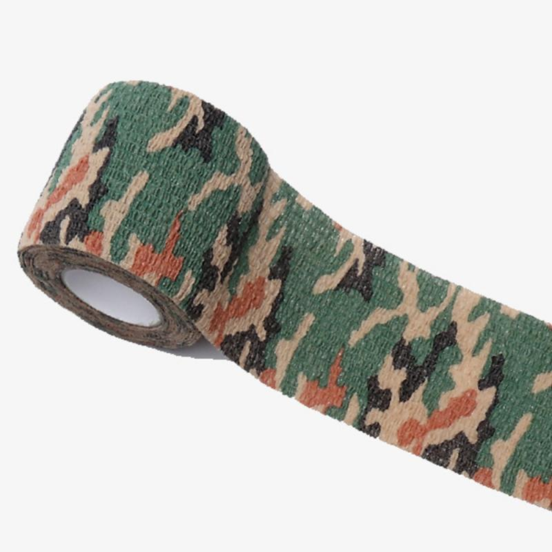 Sports Fitness Camouflage Elastoplast Bandage Self-adhesive Elastic Bandage Waterproof Emergency Outdoor Treatment Gauze Tape