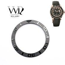 Сменные часы rolamy серые черные чистые керамические вставки