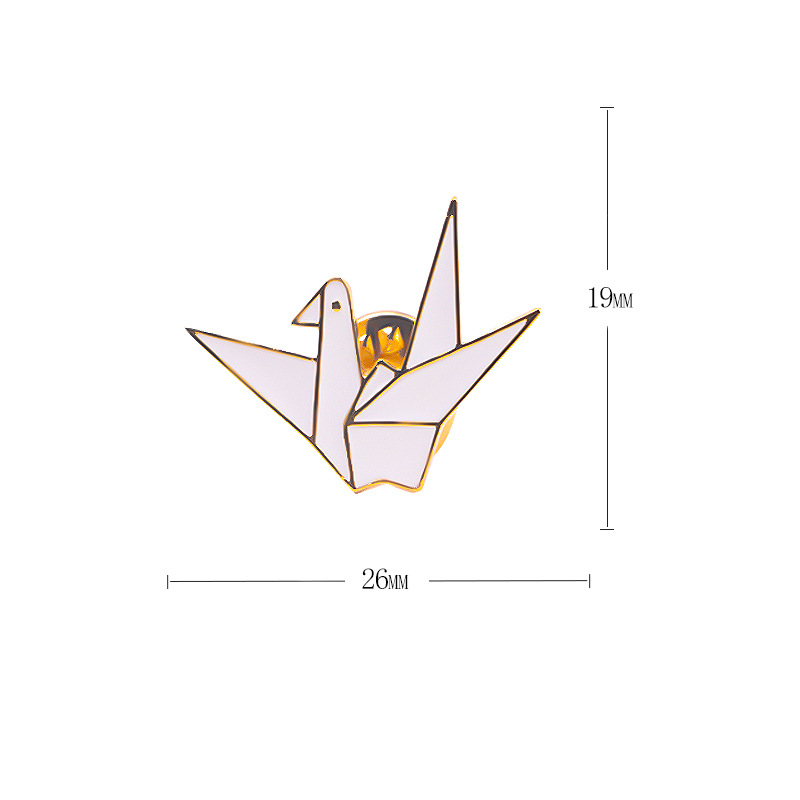 Bad Guy Thousand Paper Cranes Brooches for Women's Brooch Pin Jewelry Clothes Scarf Buckle Garment Accessories Fashion Jewelry-4